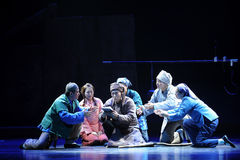 A dying request.- Jiangxi opera a steelyard. Jiangxi opera a steelyard is adapted from a true story: the last century fortys, the protagonists father runs an oil royalty free stock photography