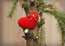 Dying tree of love Stock Image