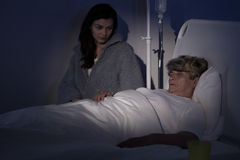 Dying woman at hospice Stock Photography