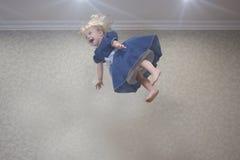 dyk in i luften ballerina little fotografering för bildbyråer