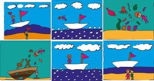 Dyka berättelser i bilder Vektor Illustrationer