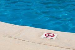 dyka inget tecken Royaltyfria Bilder
