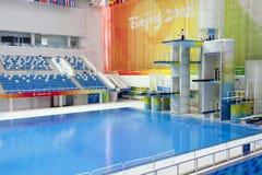 dyka olympic plattformar royaltyfria foton