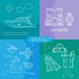 Dyka som är fastställt av linjära symboler Arkivfoton