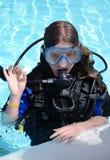 dyka som är klart Arkivfoto