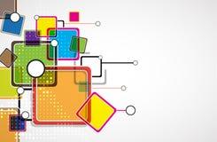 Dyka upp teknologinätverkskuben Arkivbild