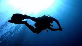 Dykare Fotografering för Bildbyråer