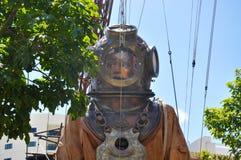 Dykare Marionette Closeup: Resa av jättarna: Perth Australien Arkivbild