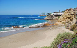 Dykareliten vik och picknickstrand, Laguna Beach, Kalifornien Arkivbild