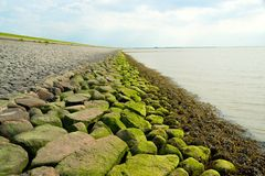 Dyke in Friesland, The Netherlands Royalty Free Stock Photography