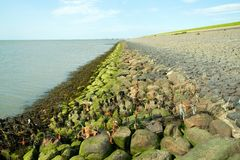 Dyke in Friesland, The Netherlands Royalty Free Stock Images