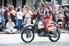 Dykes On Bikes at Seattle Gay Pride Parade Stock Photo