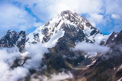 Dykh-Tau, 5,204 m - the second highest mountain in Russia Stock Photography
