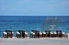 dykning för strandcafeklubba Arkivfoton