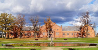 Dykningen parkerar slotten, Litauen Royaltyfri Fotografi