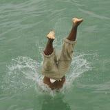 dykningfärgstänk Arkivfoton