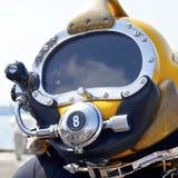 Dykninghjälm för djupt hav Fotografering för Bildbyråer