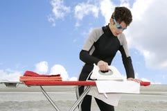 dykninghushållsarbete Fotografering för Bildbyråer