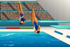 Dykningkonkurrens Arkivfoto