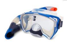 dykningmaskeringssnorkel Arkivfoton