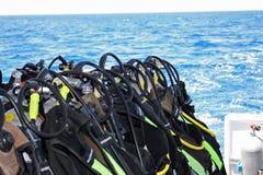 dykningutrustning Fotografering för Bildbyråer