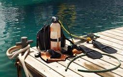 dykningutrustning Royaltyfria Bilder