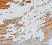 Dykta z Płatkowatą Białą farbą zdjęcie stock
