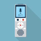 Dyktafon ikona, płaski projekta styl Obrazy Royalty Free