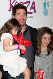 Dylan McDermott & Daughters Colette & Charlotte Kooza (A Cirque du Soliel Production) Opening Night - Santa Monica royalty free stock photography