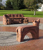 Dylan Thomas Beastie Benches Royalty Free Stock Images