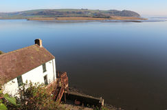 Dylan Thomas boathouse, Laugharne. The poet Dylan Thomas boathouse, overlooking the estuary of the river Taf, in Laugharne, Carmarthenshire, Wales Royalty Free Stock Images