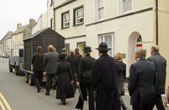 Dylan Thomas Procession, Laugharne Royalty Free Stock Photos