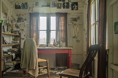 Dylan Thomas writing shed, interior Royalty Free Stock Photo