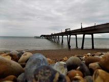Dylowy molo, Kent UK zdjęcie stock