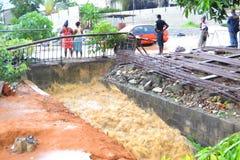 Dyluwialni deszcze: utożsamiać ryzyko strefy w Abidjan Obrazy Royalty Free