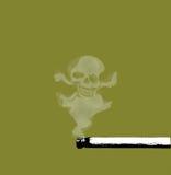 dym i czaszka Zdjęcia Royalty Free