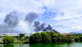 Dym i natura Obrazy Stock