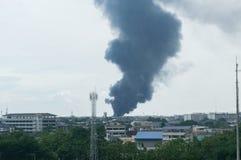 Dym który niszczy fotografia stock