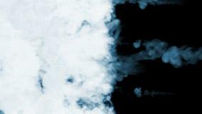Dym leje się w zwolnionym tempie Odizolowywający na czarnym tle z backlit i gotowym dla compositing dla wizualnych skutków zbiory wideo