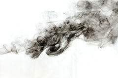 Dym na biały tle Obraz Royalty Free