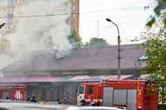 Dym na budynku dachu Obrazy Royalty Free