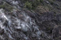 Dym na górze Vesuvius obrazy stock