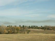 dym nad pastwiska Zdjęcia Royalty Free