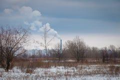 Dym od drymby na horyzoncie Obraz Stock