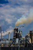 Dym od drymby roślina emisja szkodliwi gazy w atmosferę, szklarniany efekt Zdjęcie Royalty Free
