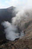 Dym od góry Bromo, Indonezja Zdjęcie Stock