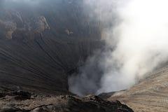 Dym od góry Bromo, Indonezja Zdjęcia Royalty Free