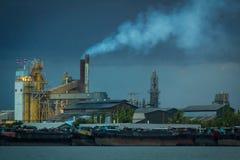 Dym od kominów Fotografia Stock