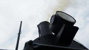Dym od kominu lokomotywa zbiory