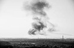 Dym od ogienia Obrazy Stock